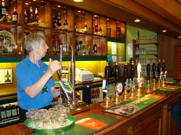 Beer Tasting Room, Greene King Brewery tour - Bury St Edmonds, Suffolk