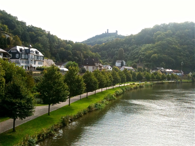 Balduinstein on der Lahn river