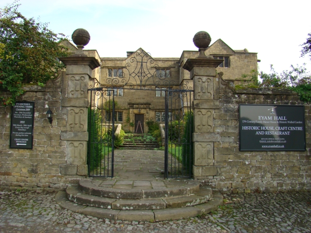 Eyam Hall - 17th C. Family Manor House & Historic Walled Garden