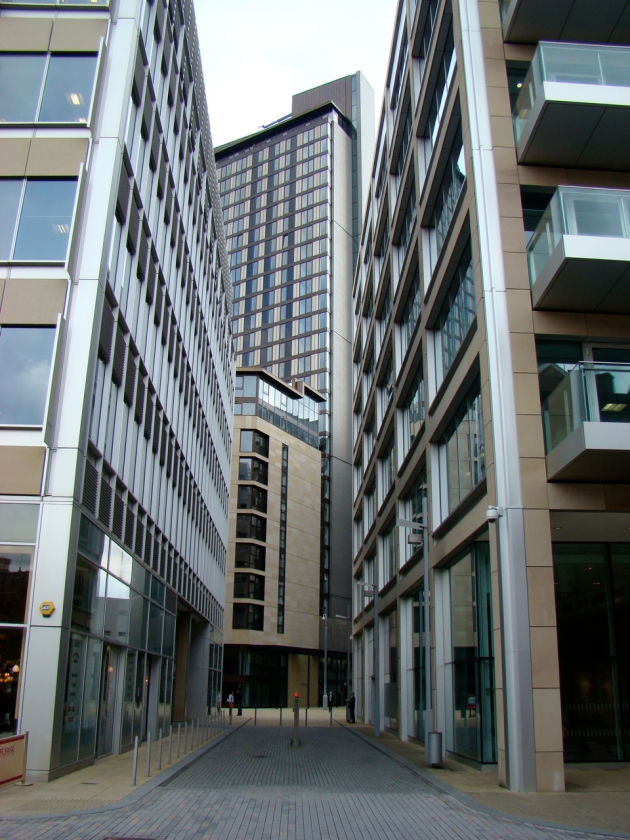 View between Hotel Novotel Sheffield Centre and Sheffield Piccolino near The Winter Garden