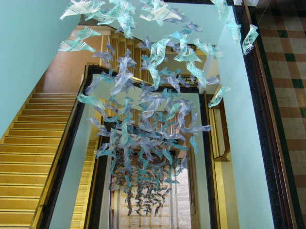 """""""Blue Bird' - Stairwell in Graves Art Gallery and Sheffield Central Library"""