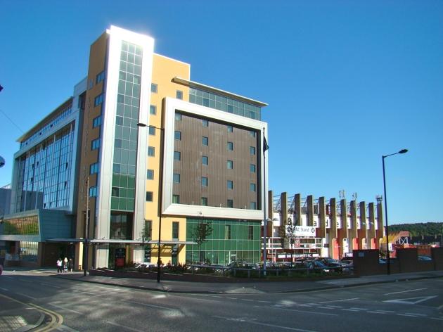 Copthorne Hotel next to Sheffield United Football Club's stadium