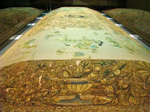 Carpet under restoration