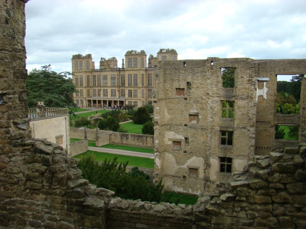 View of New Hardwick Hall from Old Hardwick Hall