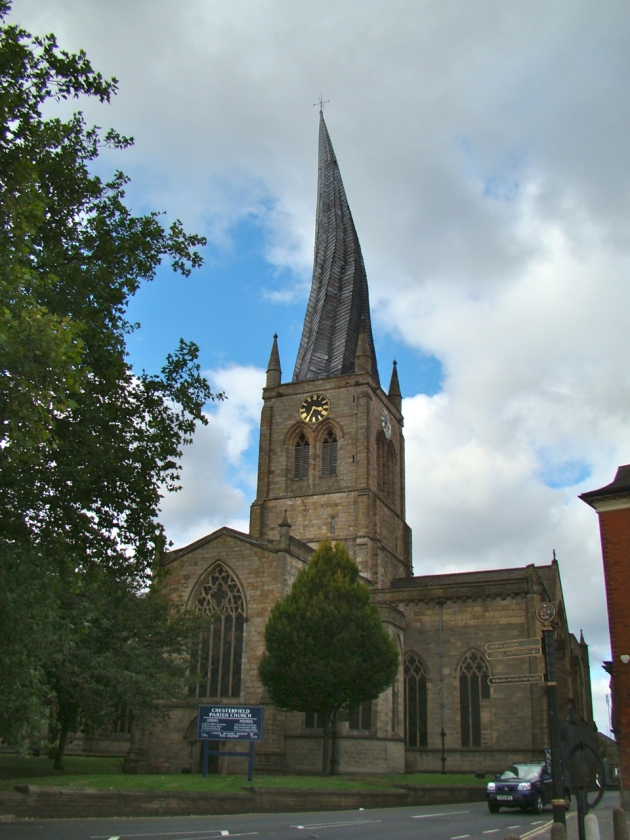 """The """"Crooked Spire"""" of Chesterfield Parish Church"""
