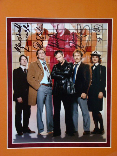 Close-up:  One of a kind Life On Mars photo signed by the Cast