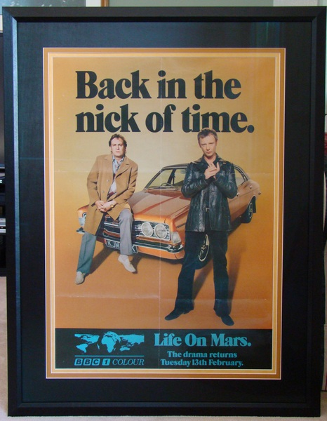 Professionally framed Life On Mars Series 2 Promo Poster