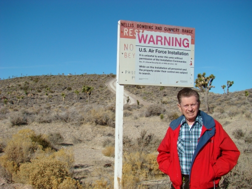 Area 51 Boundary Sign - Right hand side