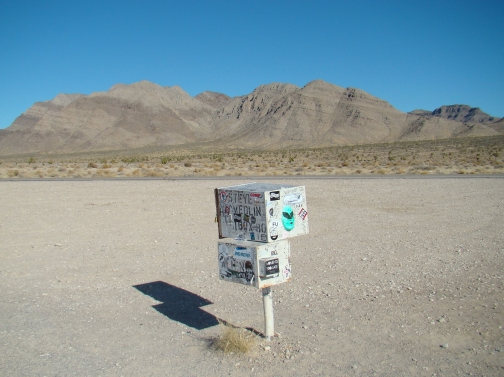 "The ""Black Mailbox"" near Area 51"